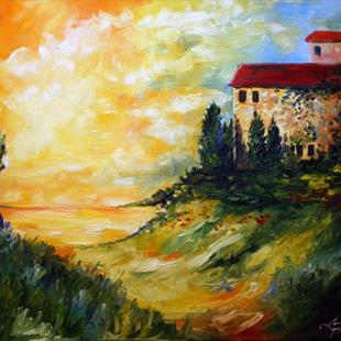 Art: sunrise at the villas by Artist Laurie Justus Pace