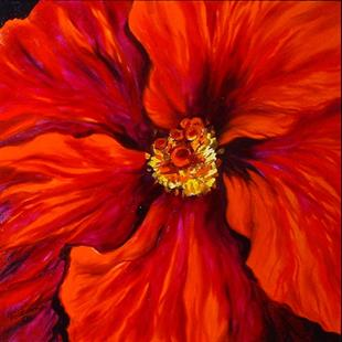Art: RED HIBISCUS III by Artist Marcia Baldwin