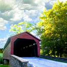 Art: Utica Maryland Covered Bridge by Artist Anthony Allegro