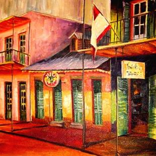 Art: Sunny French Quarter - SOLD by Artist Diane Millsap