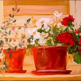 Art: FLOWER POTS by Artist Marcia Baldwin