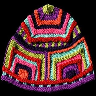 Art: Funky Knitted Hat by Artist Amanda Hone