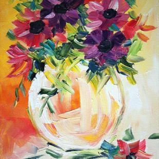 Art: flowers in a vase by Artist Laurie Justus Pace