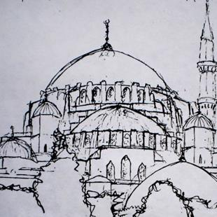 Art: Hagia Sophia by Artist Lisa Thornton Whittaker