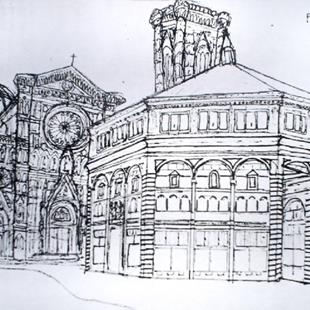 Art: Florence Cathedral by Artist Lisa Thornton Whittaker