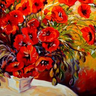 Art: POPPY RED POPPY by Artist Marcia Baldwin
