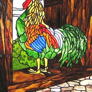 Art: Rooster in the Haymow by Artist Phil Petersen