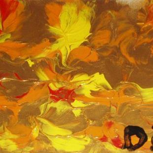Art: Golden Sunrise  SOLD by Artist Di  Wendy Peel