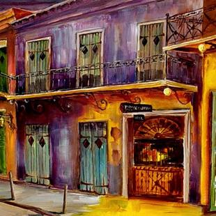 Art: French Quarter's Preservation Hall - SOLD by Artist Diane Millsap