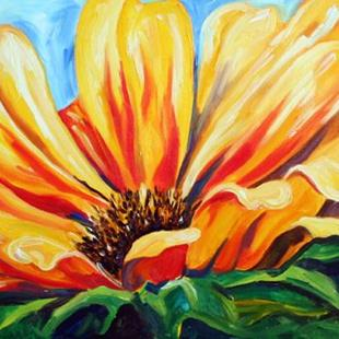 Art: Sunflower Study Hwy 170 by Artist Laurie Justus Pace