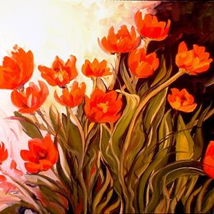 Art: TULIP BUNCH by Artist Marcia Baldwin