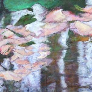 Art: Sensuous Reflections (sold) by Artist Virginia Ann Zuelsdorf