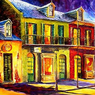 Art: Moon Over New Orleans - SOLD by Artist Diane Millsap