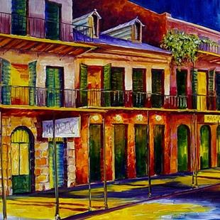 Art: Evening in the Vieux Carre' - SOLD by Artist Diane Millsap
