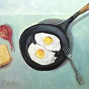 Art: Eat your eggs! by Artist Ulrike 'Ricky' Martin