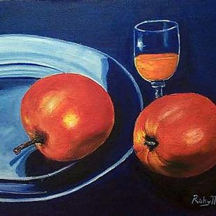 Art: Apples and Orange Juice by Artist Ulrike 'Ricky' Martin