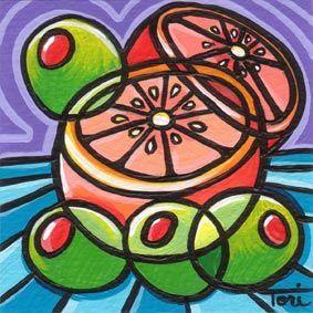 Art: Oranges and Olives by Artist Tori Siegel