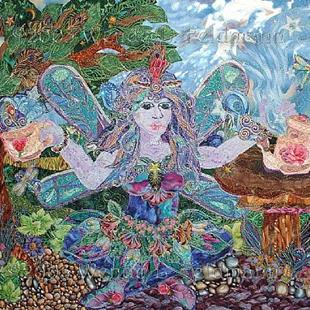 Art: A Faerie's Tea Party by Artist Wendy L Feldmann