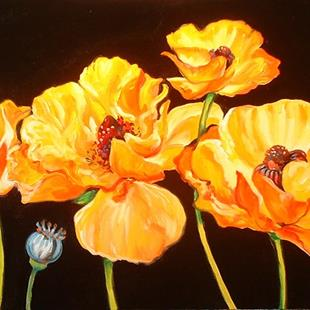 Art: GOLDEN POPPIES by Artist Marcia Baldwin