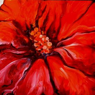 Art: HIBISCUS IN RED by Artist Marcia Baldwin