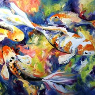 Art: Color of Koi 1 by Artist Laurie Justus Pace