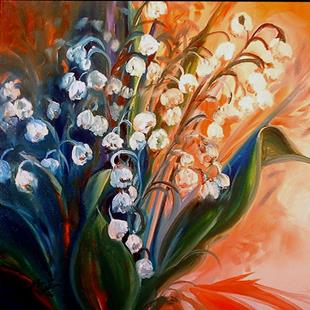 Art: LILY OF THE VALLEY by Artist Marcia Baldwin