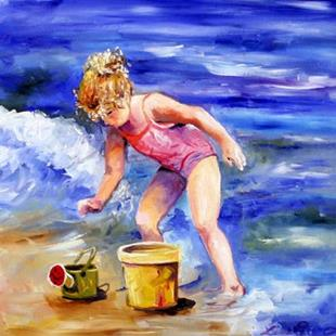 Art: Beach Girl by Artist Laurie Justus Pace