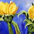 Art: Late July Sunflowers by Artist Laurie Justus Pace
