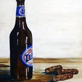 Art: Cold Beer and Pretzels by Artist Laurie Justus Pace