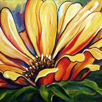 Art: Evening Sunflowers Two by Artist Laurie Justus Pace