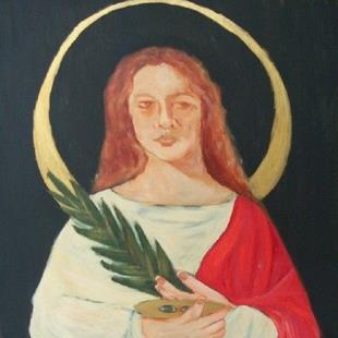 Art: icon (st lucy) by Artist Amie R Gillingham