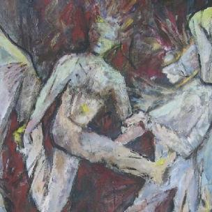Art: The Way We Dance (sold) by Artist Virginia Ann Zuelsdorf