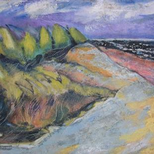 Art: Black Sea with Dunes by Artist Virginia Ann Zuelsdorf
