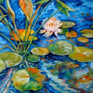 Art: WATERLILY POND & KOI by Artist Marcia Baldwin