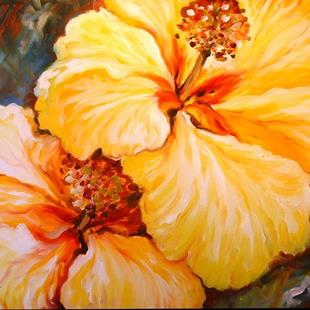 Art: YELLOW HIBISCUS by Artist Marcia Baldwin