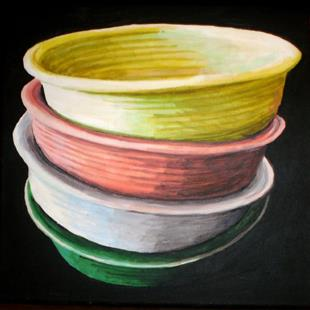 Art: Bowls by Artist Lisa Thornton Whittaker