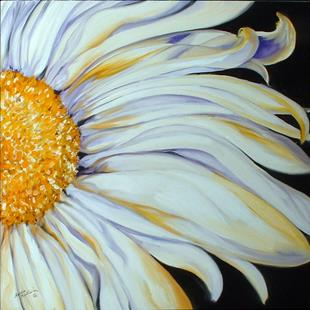 Art: A WHITE DAISY by Artist Marcia Baldwin