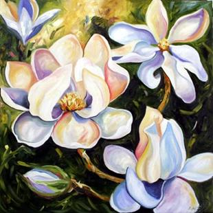 Art: The Magnolia's at Memas by Artist Laurie Justus Pace