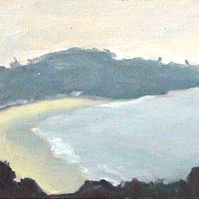 Art: Foggy Morning Reefs Point by Artist Debra Schott