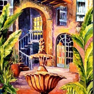 Art: Old French Quarter Courtyard - SOLD by Artist Diane Millsap