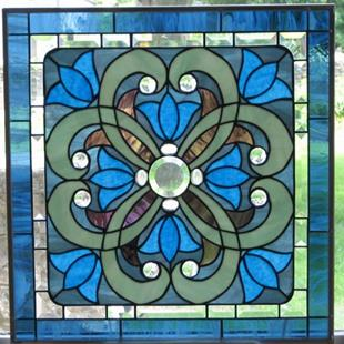 Art: Stained Glass Window Victorian by Artist Phil Petersen