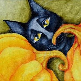Art: Punkin in the pumpkin patch by Artist Deb Harvey