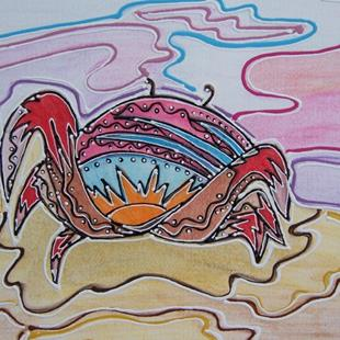 Art: Cape Canaveral Crab by Artist Joan Hall Johnston