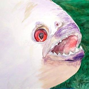 Art: Piranha    by Artist Lisa Morgan