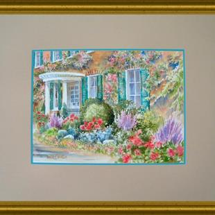 Art: English Garden Entry by Artist Pamela K Wilhelm