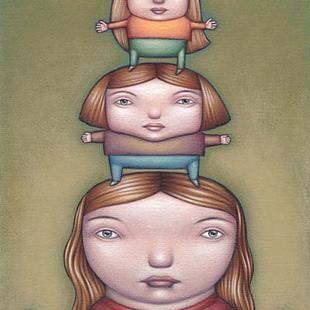 Art: Girl Tower by Artist Valerie Jeanne