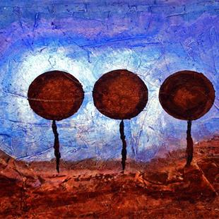 Art: Chocolate Lollipop Landscape by Artist Diane G. Casey