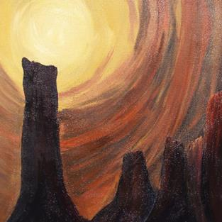 Art: Sedona Rising - sold by Artist Shari Lynn Schmidt