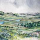 Art: Lamar Valley - Spring by Artist Lynn Bickerton Chan