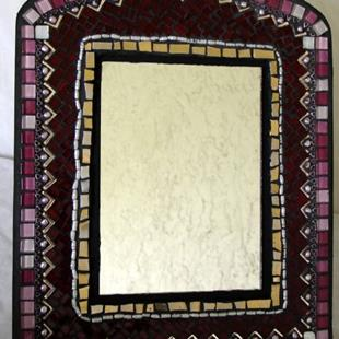 Art: Middle Eastern Style Red Mirror (sold) by Artist Dorothy Edwards